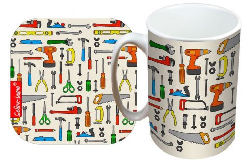 Selina-Jayne DIY Tools Limited Edition Designer Mug and Coaster Gift Set